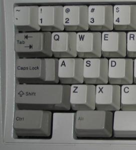 toestenborden toets typen