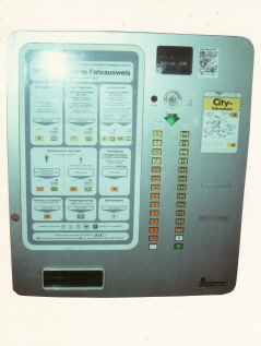 public transport ticket vending machine DIN