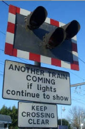 spoorwegovergang nog een trein bord psychologie