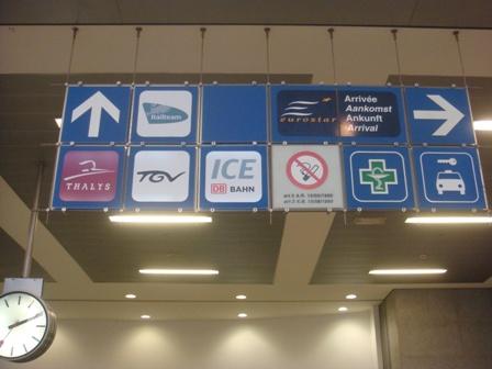 sign post brussels central station