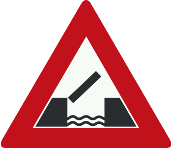 traffic sign open bridge
