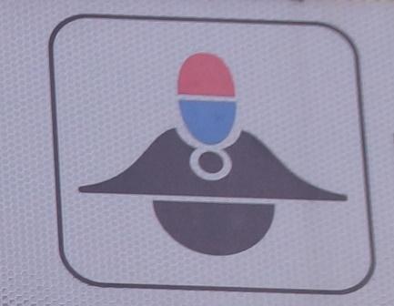 voorkant zijkant politiepet icon pictogram bewegwijzering