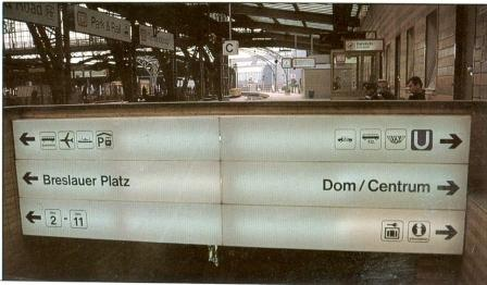 architecture signposting naming targets station cologne
