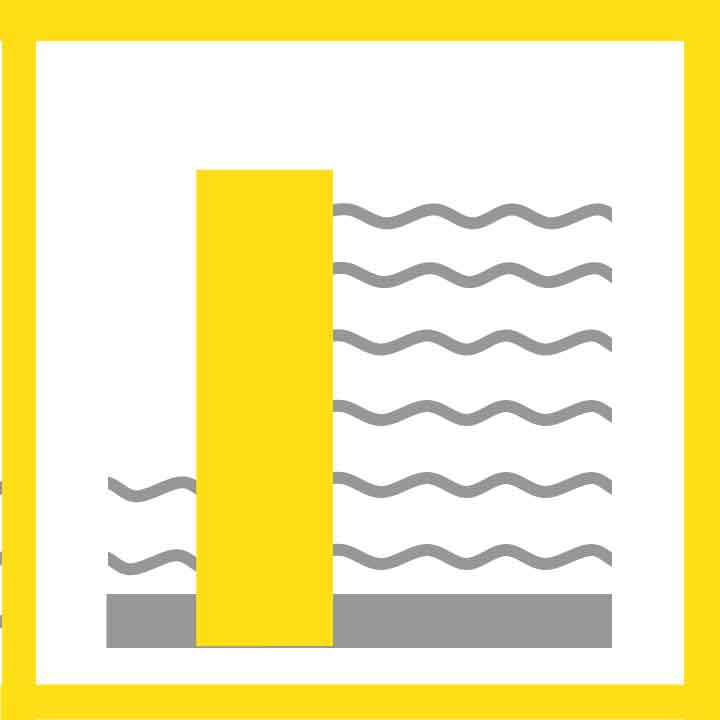 icon dam water verkeer veiligheid