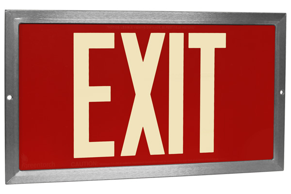 red emergency exit sign safety psychology