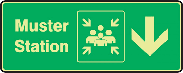 muster station, assembly point, icon, emergency