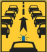 traffic sign space for emergency services