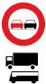 verkeersbord duitsland verboden inhalen