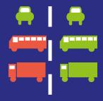 verkeersbord inhalen snelweg