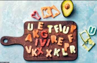 albert heijn groente letters leren lezen width=